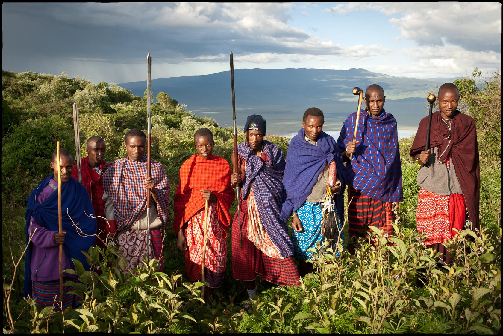 アフリカのマサイ族たち