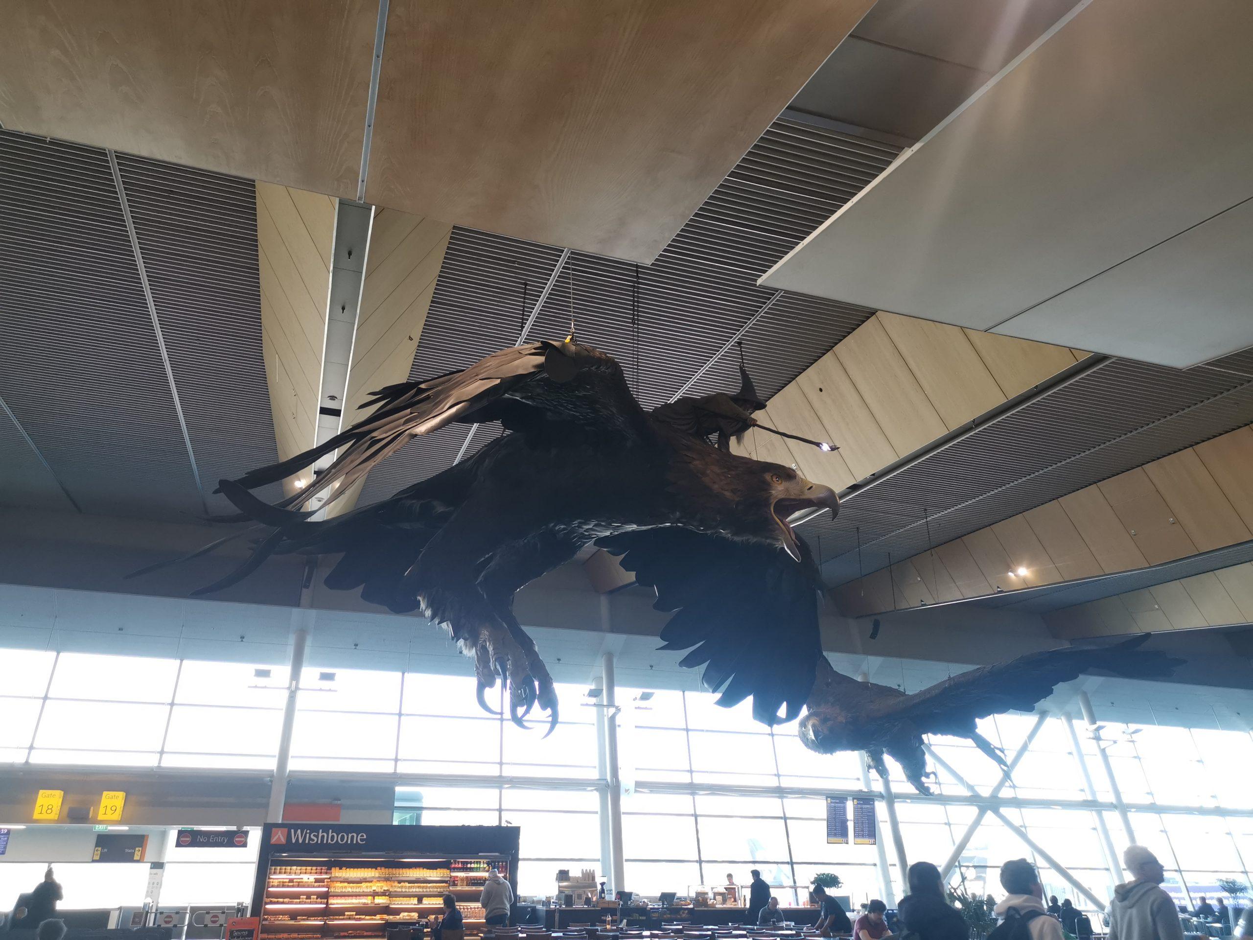 ウェリントン空港にいるガンダルフ